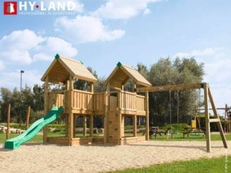 Hy-Land commercial climbing frame with swings and slide