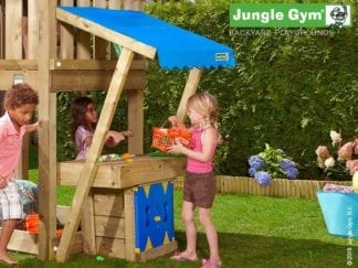 Jungle Gym mini market module in the garden
