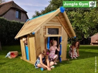 Jungle Gym crazy playhouse in garden