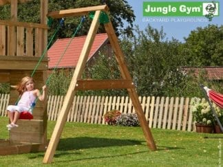 Jungle Gym 1 swing module with swing seat included in garden
