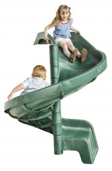 Cheeky Monkey spiral slide in green and yellow