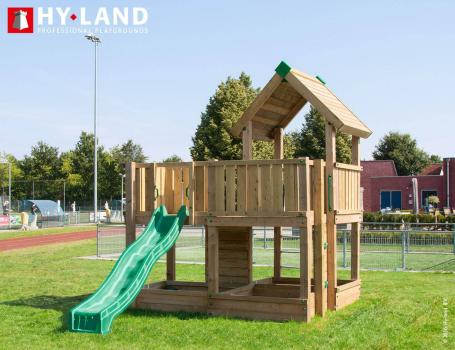 Hy-Land commercial climbing frame with slide