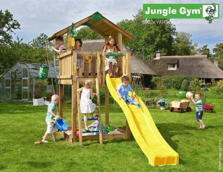 climing-frame-slide-jungle-chalet-yellow