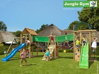 Jungle Gym paradise 3 with slides in garden