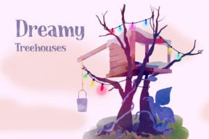 Dreamy Treehouse Illustrations That Will Soothe Your Inner Child
