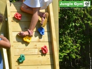 Jungle Gym Rock wall including timber