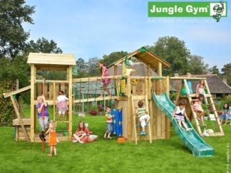 Jungle Gym paradise 4 with slide and firemans pole in garden