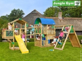 Jungle Gym paradise 5 with slides in garden