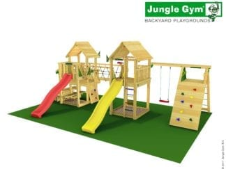 Jungle Gym paradise 6 with slides in garden